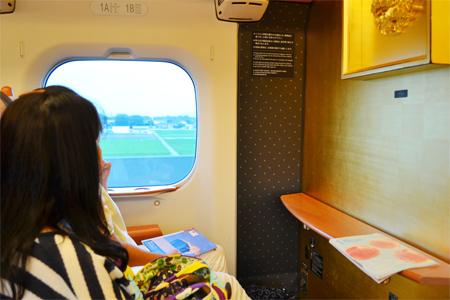 九州新幹線つばめ車内