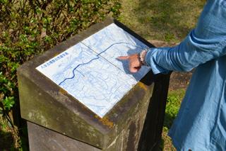 八女古墳群自然遊歩道の地図