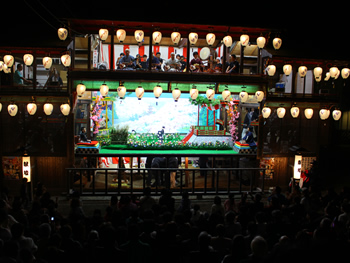 八女福島の灯籠人形公演