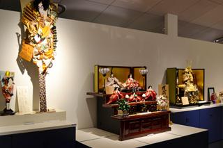 八女伝統工芸館2階の展示