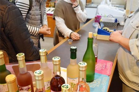 立花ワインの試飲