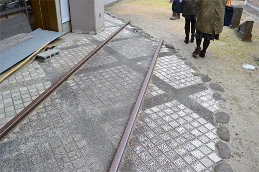 国鉄矢部線の線路跡