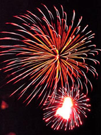 竹飯の花火