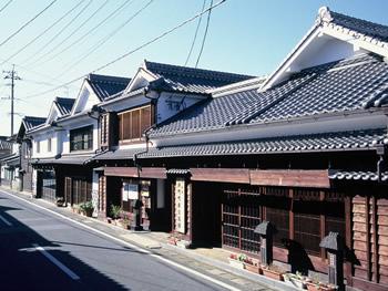 八女福島白壁の町並み